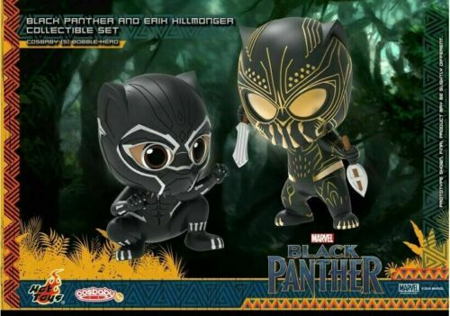 Hot Toys Cosbaby Black Panther /& Erik Set Figure COSB488 Jungle Action Doll