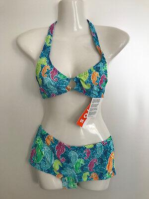 TanThru Bikini Durchbräunend Blau Türkies 38 40 42 B  US 7//8 9//10 12 Solar Neu