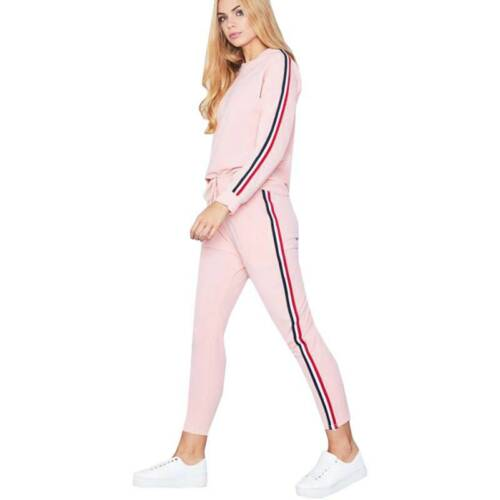 2Pcs Womens Tracksuit Hoodies Sweatshirt Pants Set Sport Lounge Wear Activewear