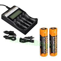 2 X Fenix Arb-l18-3500 Rechargeable 3500mah Li-ion 18650 Battery Are-c2 Charger