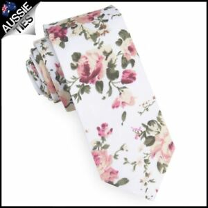 fd1b599059fb Image is loading White-with-Pink-amp-Apricot-Floral-Pattern-Men-