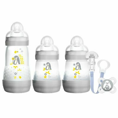 MAM Baby Newborn Bottles Anti-Colic Soother Welcome to the World Gift Set Unix