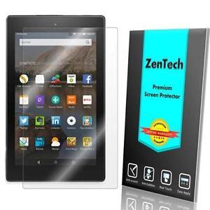 2X New Amazon Fire HD 8 (2017) Tablet w/ Alexa ZenTech® Clear Screen Protector 689016274805
