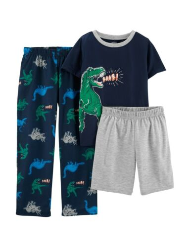 Boys 6 7 8 10 New Carter/'s 3-Piece Dinosaur Roar Pajama Set
