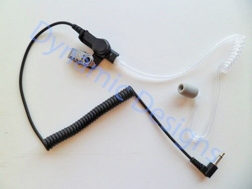 Acoustic Coil Tube Ear Piece 3.5mm Listen Only with Noise Reduction Foam Ear Tip