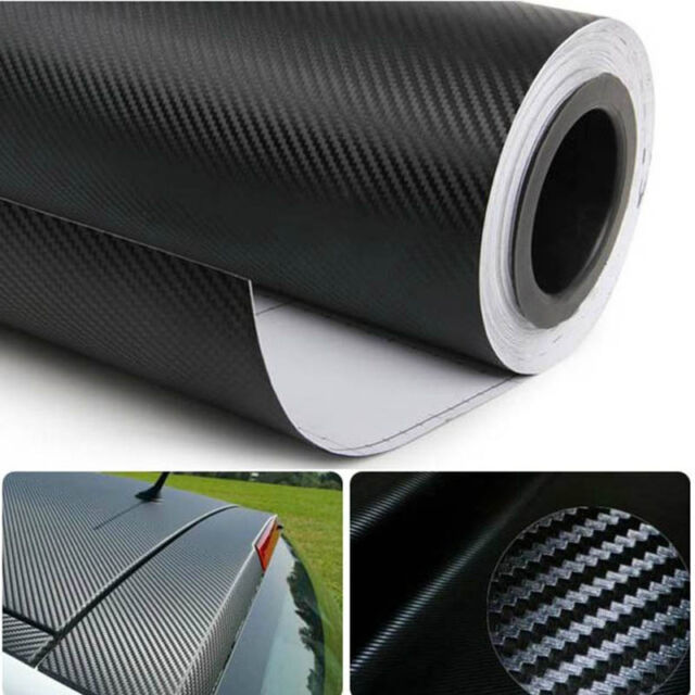"DIY 12""x50"" 30x127cm 3D Texture CARBON Fiber Wrap Vinyl Decal Car Sticker Sheet"
