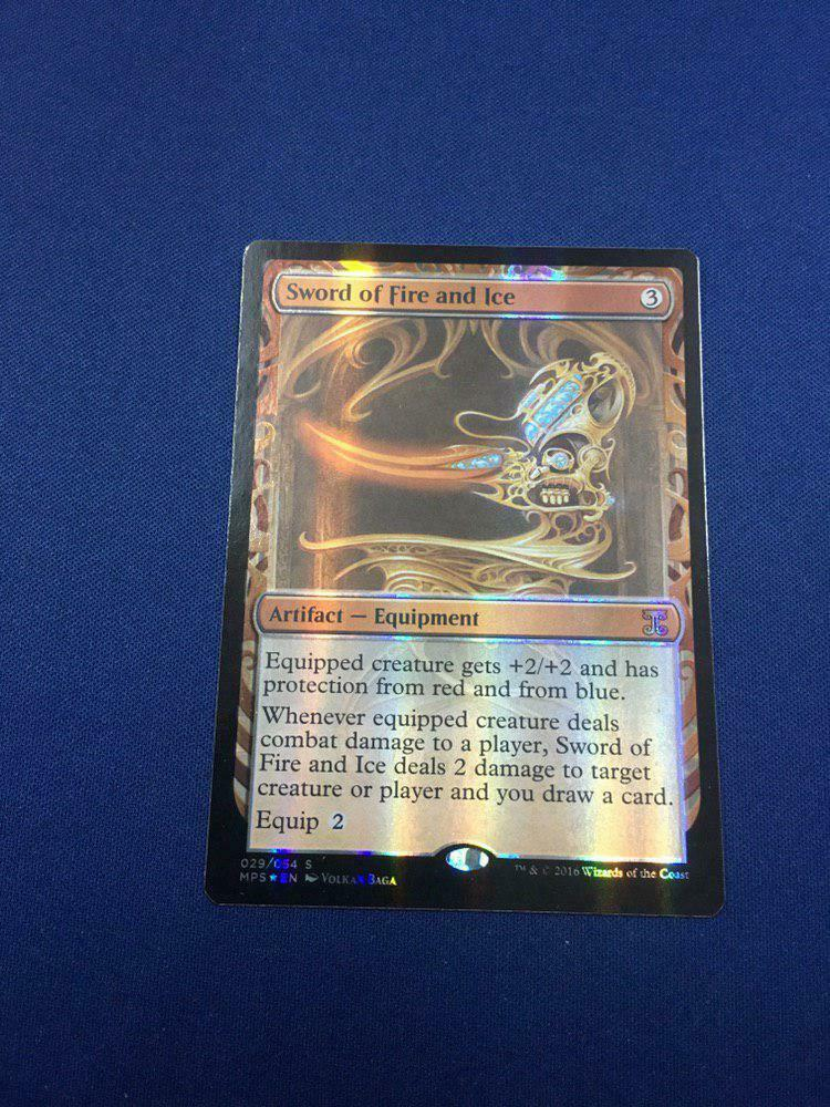 MTG Sword Of Fire and Ice Foil Masterpiece Series   Kalads Inventeringa NM x1