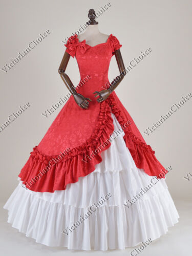 Victorian Costumes: Dresses, Saloon Girls, Southern Belle, Witch    Victorian Southern Belle Old West Ball Gown Dress Theatrical Reenactment N 208 $155.00 AT vintagedancer.com
