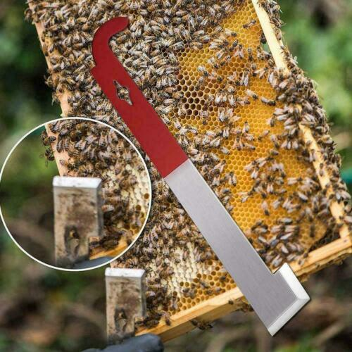 27cm Stainless Bee Hive Tool Frame Lifter And Scraper For Beekeeper Hook H3Z0