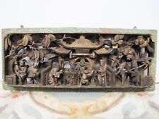 Antique Mid-19th Century Hand-Carved Window / Door Decorative Wood Panel. 4