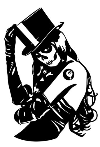 Candy Sugar Skull Girl Tattoo Graffiti Wall Art Decal Sticker Picture Decorate