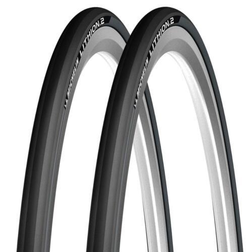 Paire de noir michelin lithium pliant route course vélo pneu 700 25C