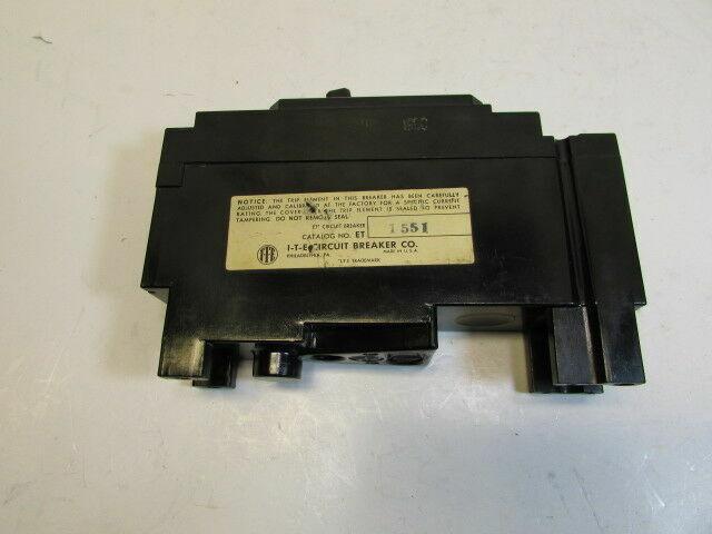 ITE BREAKER ET-1551 15A 15 A AMP 1 POLE ET1551