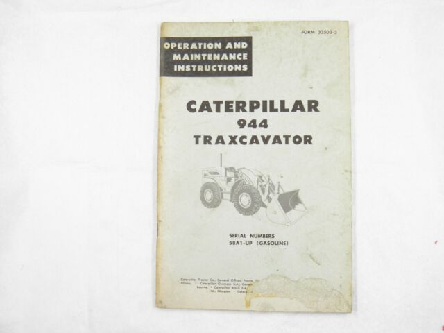 Cat Caterpillar 944 Operation Maintenance Instructions 58a Ebay