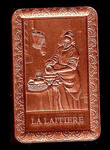 MAGNIFIQUE LINGOT PLAQUE BRONZE TABLEAU : LA LAITIERE - France - EBay MAGNIFIQUE LINGOT EN PLAQUE BRONZE REPRESENTANT LA LAITIERE En Parfait état, ce lingotin sous capsule plastifiée mesure 44mm28mm3mm Plaqué bronze / bronze plated ALLEZ VOIR MES AUTRES VENTES DANS MA BOUTIQUE : DE TOUT, LINGOTS, MONNAIES,  - France