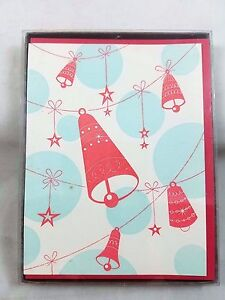 Letterpress Christmas Cards.Details About Ring A Ding Bells Letterpress Christmas Cards With Envelopes Box Of 6 New