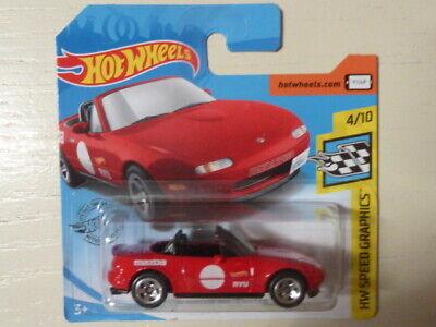 Hot Wheels /'91 MAZDA MX-5 MIATA 4//10 SpeedGraphics M09 *New* LongCard