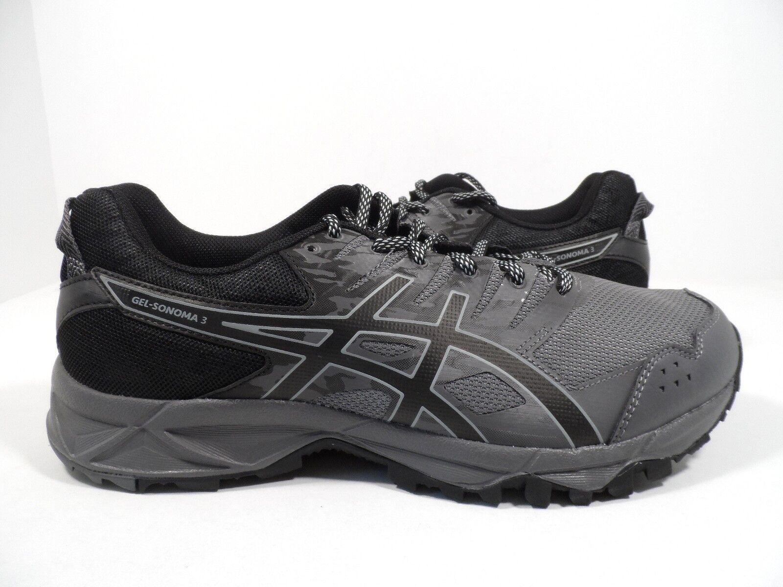 Asic uomini 'gel sonoma 3 scarpa da corsa carbonio / nero / midgrey misura 7,5 4e