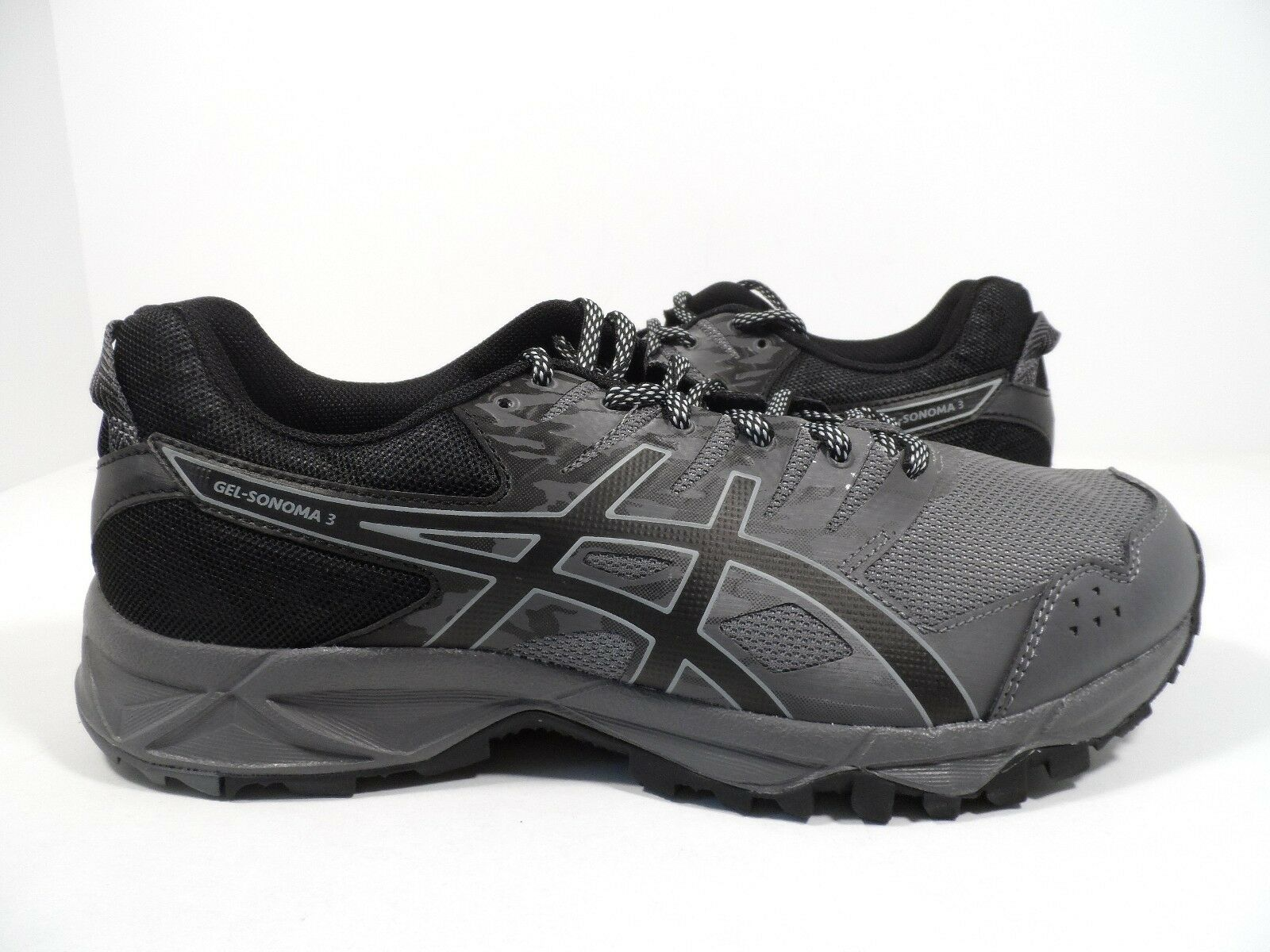 ASICS Men's Gel-Sonoma 3 Running shoes Carbon Black Midgrey Size 8 4E