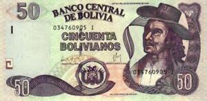02 Bolivia / Bolivien P235 50 Bolivianos 1986