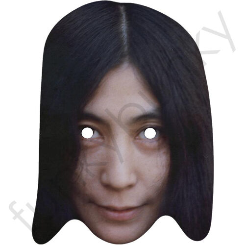 Yoko ONO THE BEATLES Celebrity CARTA MASCHERA-tutte le nostre maschere sono pre-tagliati!