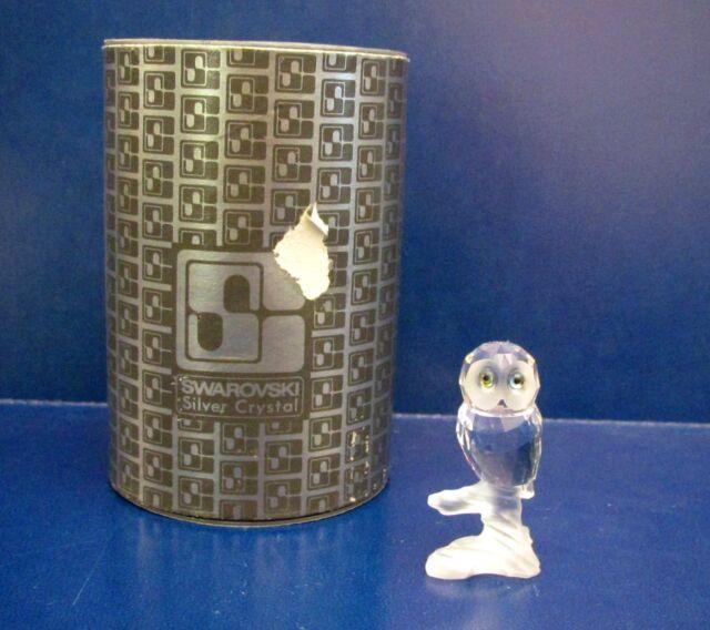 Swarovski OWL ON BRANCH Crystal Figurine - RETIRED - MIB
