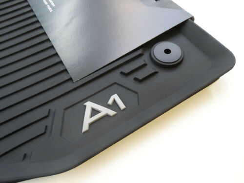 Original Audi A1 GB Gummifußmatten Gummimatten vorne schwarz 82B061501 041