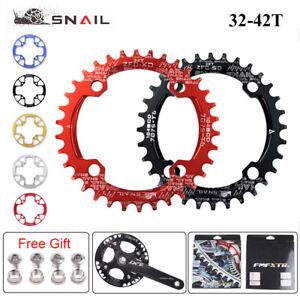 SNAIL 32-42T 104mm Narrow Wide Single Chainring MTB Bike Crankset Fit Shimano