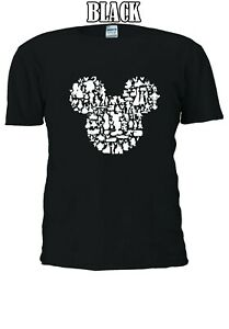 Disney-Mickey-Mouse-All-Main-Characters-Family-T-shirt-Men-Women-Unisex-V67