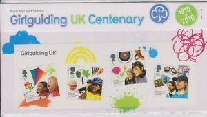 GB 2010 GIRLGUIDING UK MS PRESENTATION PACK No. 436 SG: MS 3025 MINT STAMP SHEET