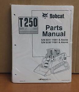 image is loading bobcat-t250-parts-manual-book-skid-steer-loader-