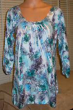 Simply Irresistible Sublimation Crochet Accent Blouse Top, Medium