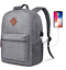 Backpack-Casual-Daypack-Wateresistant-Travel-Backpack-15-6-Laptop-Backpack-Gray miniature 1