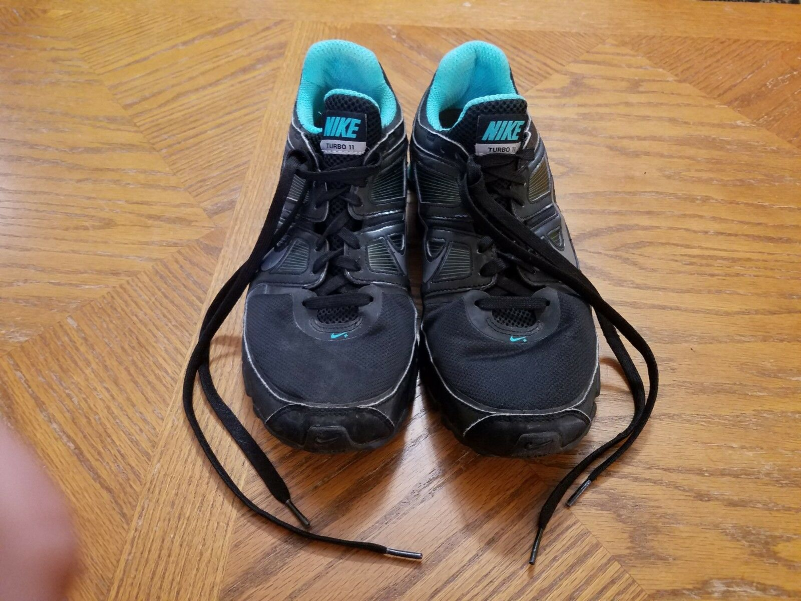 Womens Size 10.5 Nike Turbo Shox 11 11 11 407268-011 Black   Aqua bluee - Euc ebd55e
