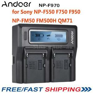 Andoer-2-NP-F970-Battery-Plate-Dual-Four-Channel-for-Sony-NP-F550-F750-F950-AU