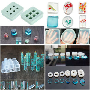Resin DIY Craft Molds Meao 31 Pcs Jewelry Craft Making Silicone Moulds Jewelry Pendant Moulds Epoxy Resin Molds Tools Set