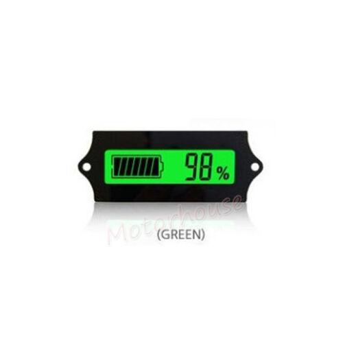 LCD Voltmeter Lead Acid LiFePO4 Lithium Li-ion Battery Capacity Level Indicator