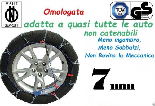 Catene da Neve 7mm per Auto non Catenabile Misura pneumatici 225//40R18 225//40-18