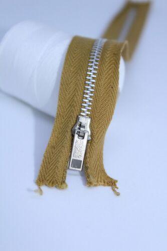 Vintage Regular Metal Zip 7.5 Inches