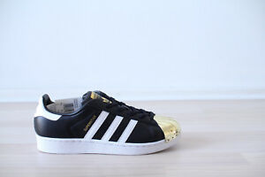 748c105261 Adidas Superstar Metal Toe W Schwarz Weiß Gold Gr. 38,39 UK 5,5 NEU ...