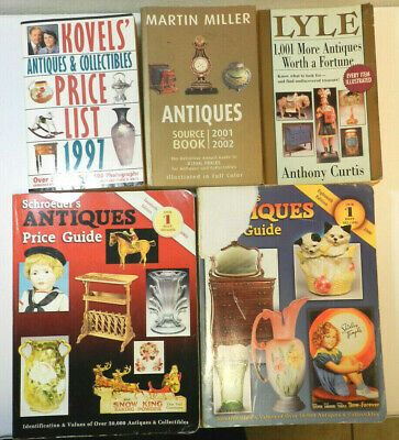 5 Book Lot Collectibles Antiques Price Guides Kovel Lyle Miller 1997 2003 Ebay