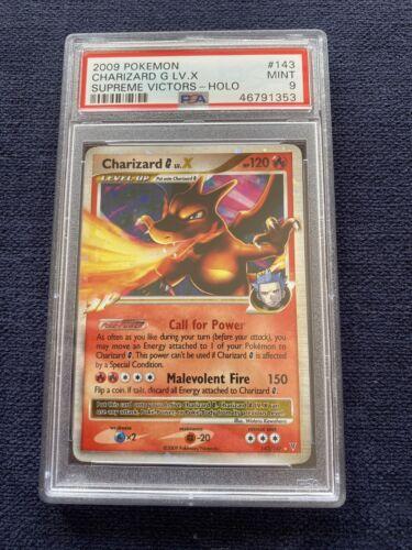 PSA 9 2009 Pokemon Charizard G LV.X Supreme Victors Holo 143/147 Card