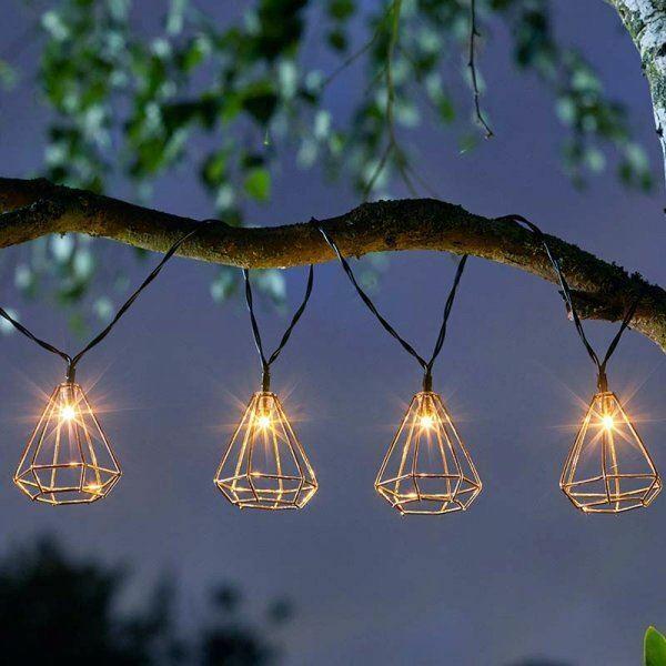 Geo Solar String Lights 10 Led Outdoor Garden Lighting