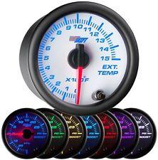 52mm GlowShift White 7 Color 1500 F Diesel Pyrometer EGT Gauge - GS-W708-1500