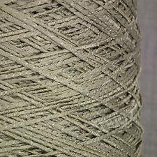 Impresionante suave y sedoso Oro Verde 4 capas GIMP hilo 500 Cono Brillante Lurex Crochet Tejido