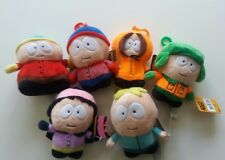 6 X South Park Soft Toy Keyring Figures Peluche Kyle Cartman Stan Butters Kenny