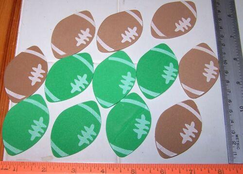 "LOT 12 FOOTBALL 2.5/"" Self Adhesive Foam Shapes"
