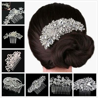 Bridal Wedding Butterfly Crystal Rhinestones Women Hair Clip Comb Diamante