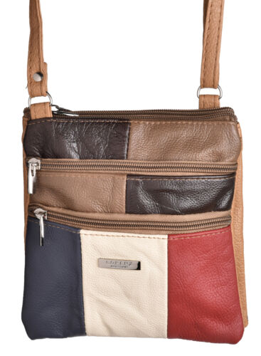 Ladies Small Cross Body Shoulder Handbag in Multi Colours by Lorenz