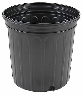 1 Gallon Trade Nursery Pot Greenhouse Growing Plant Flower Black Pots 100 Count